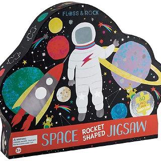 פאזל חלל מעוצב בקופסא מעוצבת עם עיטורים כסופים 80 חלקים