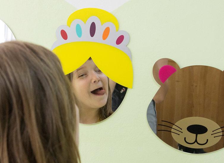 מראה מעוצבת לחדר ילדים- נסיכה