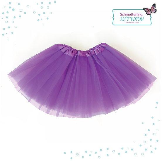 חצאית טוטו סגולה לנערות וילדות