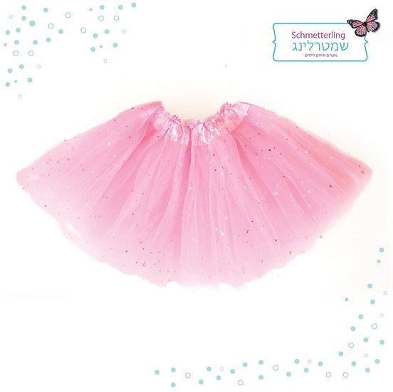 חצאית בצבע ורוד בהיר עם נצנצים!!!