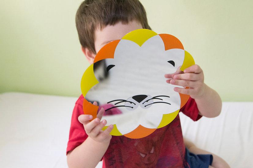מראה מעוצבת לחדר ילדים אריה