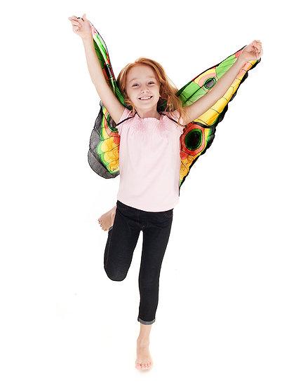 תחפושת פרפר צבעוני לילדות- כנפיים