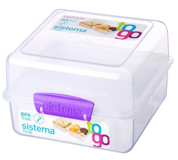 קופסת אוכל לילדים מחולקת של חברת סיסטמה SISTEMA