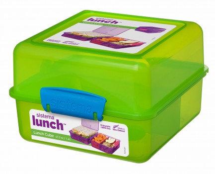 קופסת אוכל מרובעת לילדים מחולקת