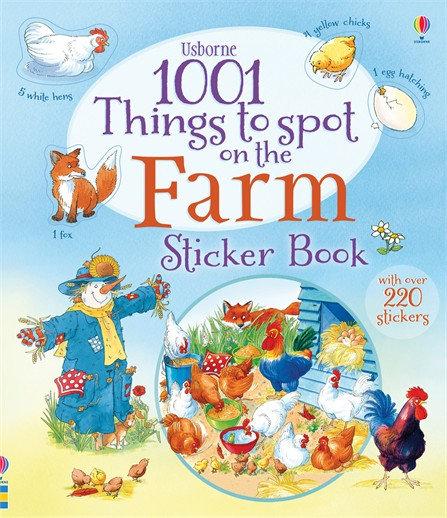 פעילות לילדים -1001 דברים למצוא ולמנות בחוה מדבקות