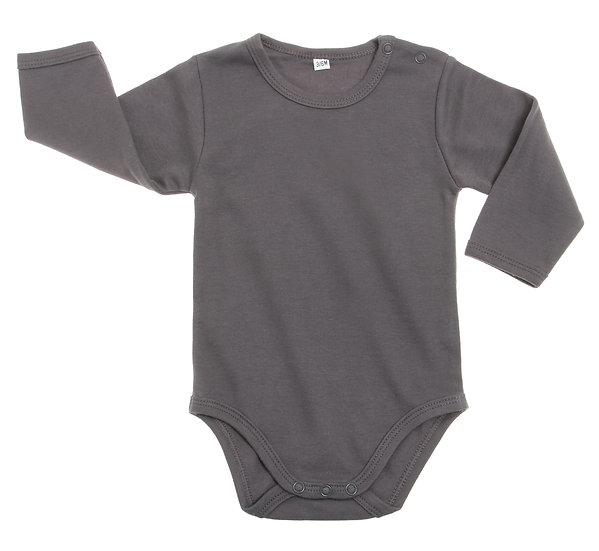בגד גוף אפור לתינוקות