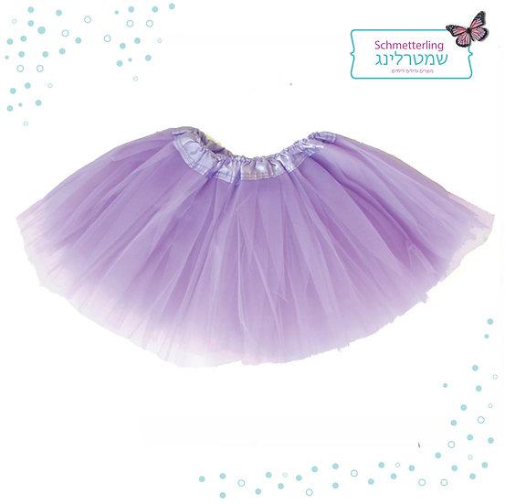 חצאית טוטו בצבע סגול בהיר לילדות