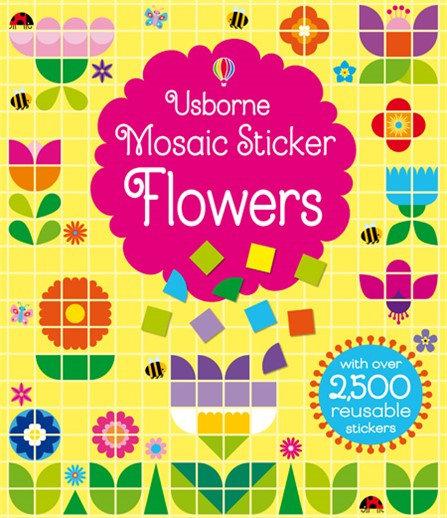 ספר מדבקות רב פעמי- פסיפס פרחים
