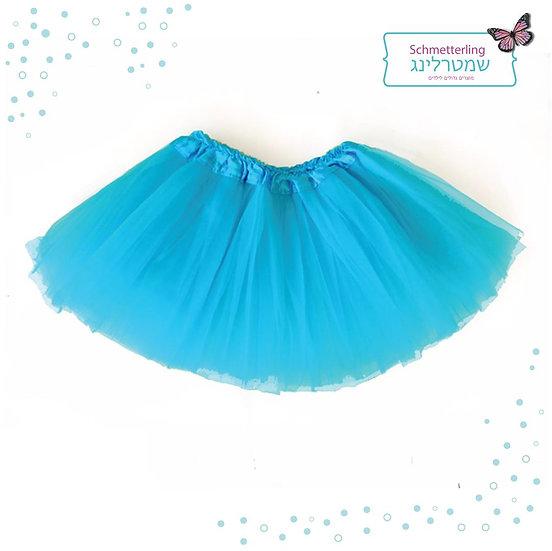 חצאית טוטו במידה גדולה בצבע תורכיז