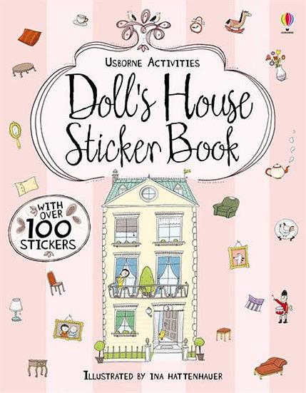 חוברת מדבקות לילדים - מדביקים בית בובות
