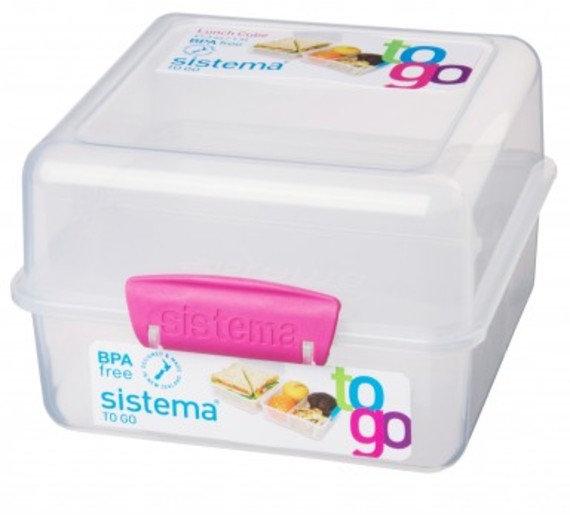 קופסת אוכל דו קומתית שקופה - סיסטמה