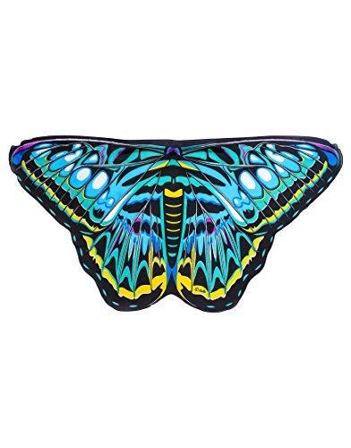 תחפושת כנפי פרפר כחולות וירוקות