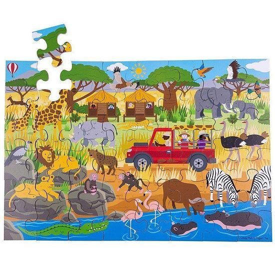פאזל עץ 48 חלקים הרפתקה באפריקה