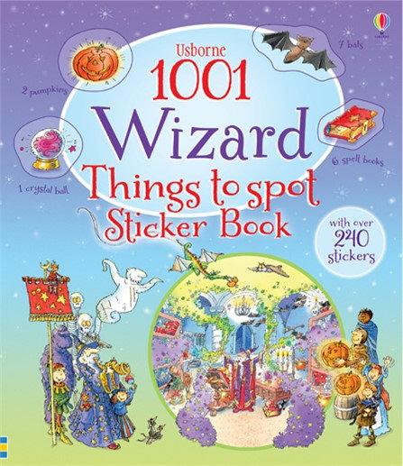 פעילות לילדים -1001 דברים למצוא ולמנות קוסמים מדבקות
