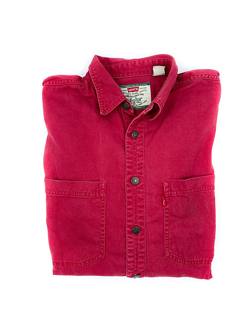 LEVI'S FADED RED OVERSHIRT