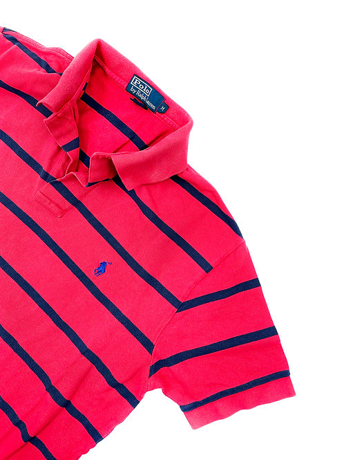 RED & NAVY STRIPED RALPH LAUREN POLO