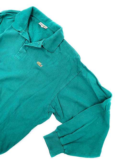 GREEN LACOSTE RUGBY SHIRT