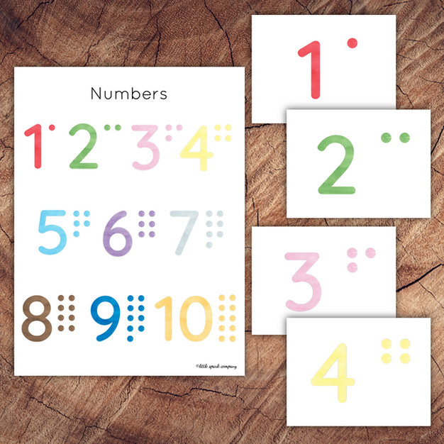 Preschool Numbers Poster and Cards Set