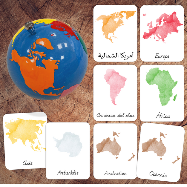 Continents 3-Part Cards