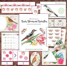 Birds, Blooms and Butterflies Math Bundle