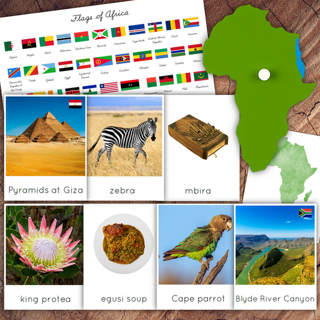 African Continent Cards Bundle