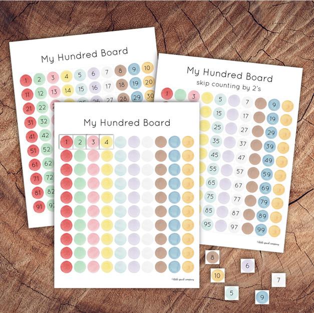 Printable Hundred Board