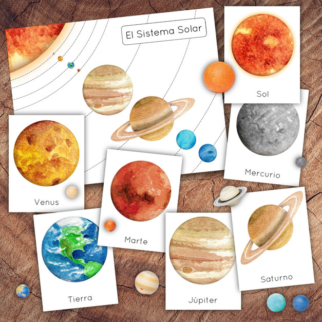 Spanish Planets of the Solar System