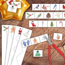 Winter Scissor Strips Bundle