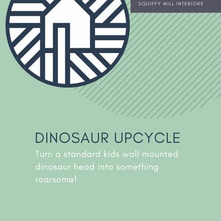 Upcycling & DIY | Kid's Dinosaur Head Wall Mount