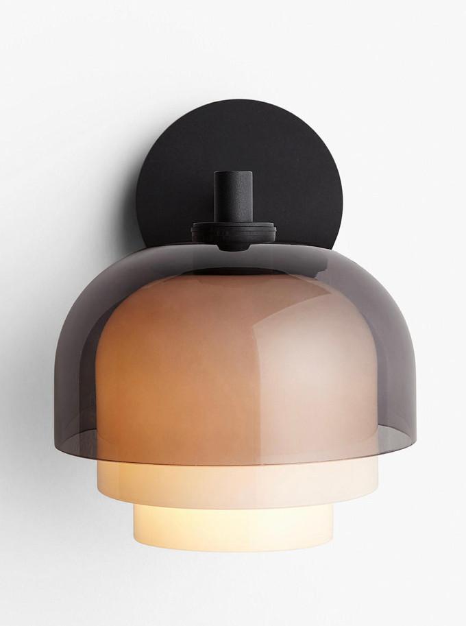 3 Layer smoke glass wall light