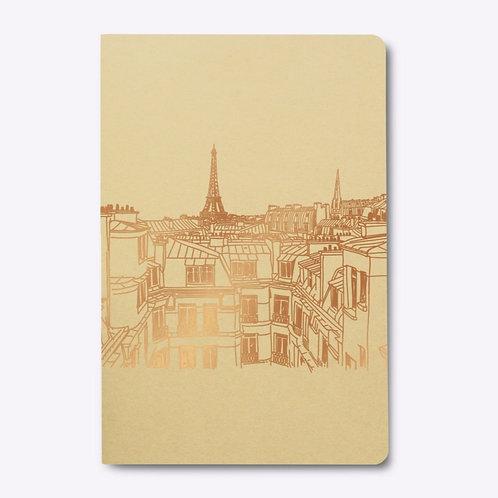 """Square Back Notebook """"TOITS DE PARIS"""""""