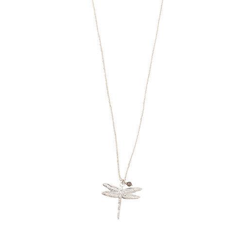 Paradise Labradorite Dragonfly silver Necklace