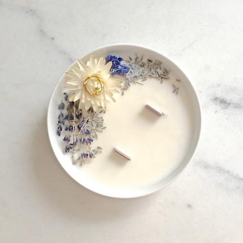 Flower Candle Lavender - Medium
