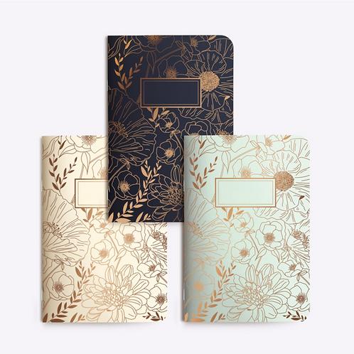 "Notebooks Trio ""FINE FLEUR"""
