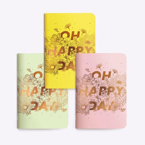 "Notebooks Trio ""OH HAPPY DAY"""