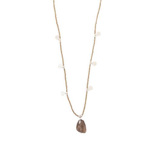 Charming Smokey Quartz Necklace