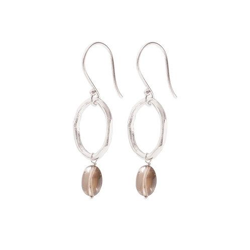 Graceful Smokey Quartz Silver Earrings