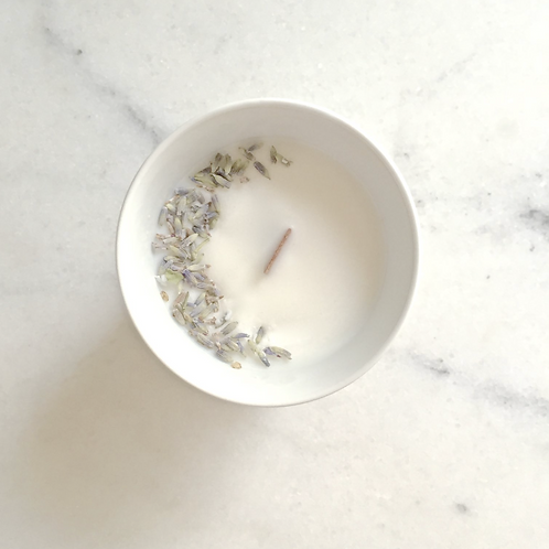 Flower Candle Lavender - Small