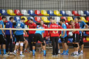 college university inter sports competition volleyball