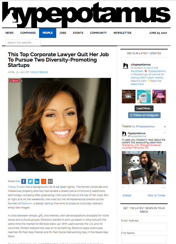 Hypepotamus: This Top Corporate Lawyer Quit Her Job To Pursue Two Diversity-Promoting Startups