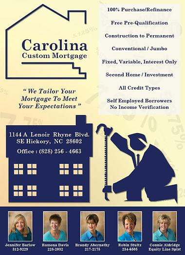 Carolina Custom Morgage ad