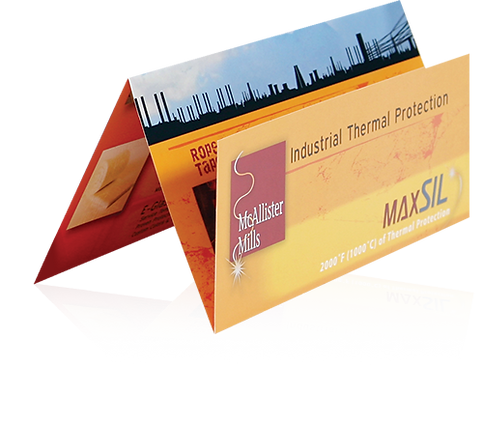 McAlliste Mills offset trifold brochure side