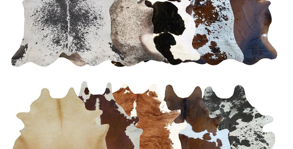 Assorted Mix Brazilian Cowhides  6'x7' $99 - $139