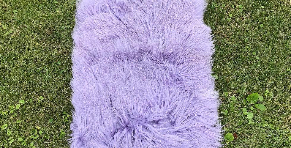 Lavender Tibetan Lamb Throw/Rug