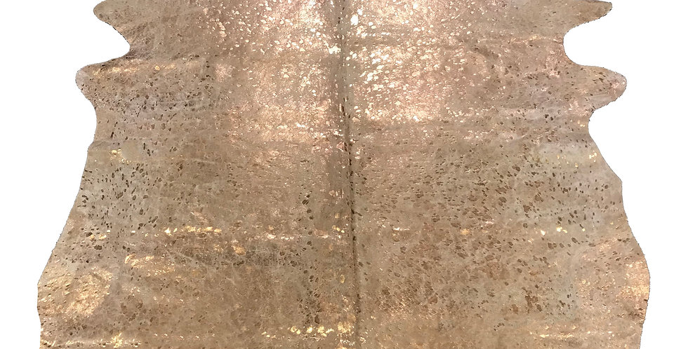 Rose Gold Metallic on White Cowhide 7'x8' $249
