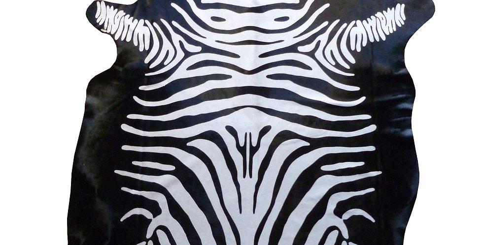 Reverse Zebra Brazilian Cowhide