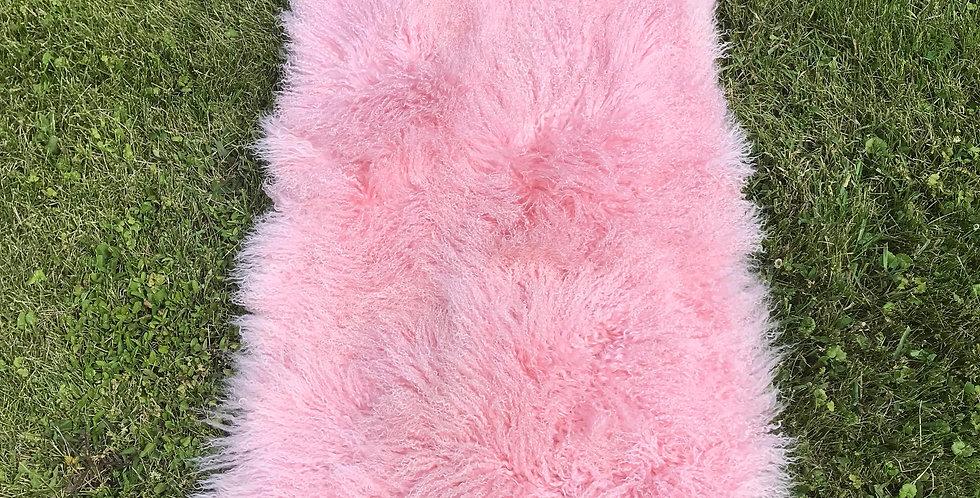 Pink Tibetan Lamb Throw/Rug $99
