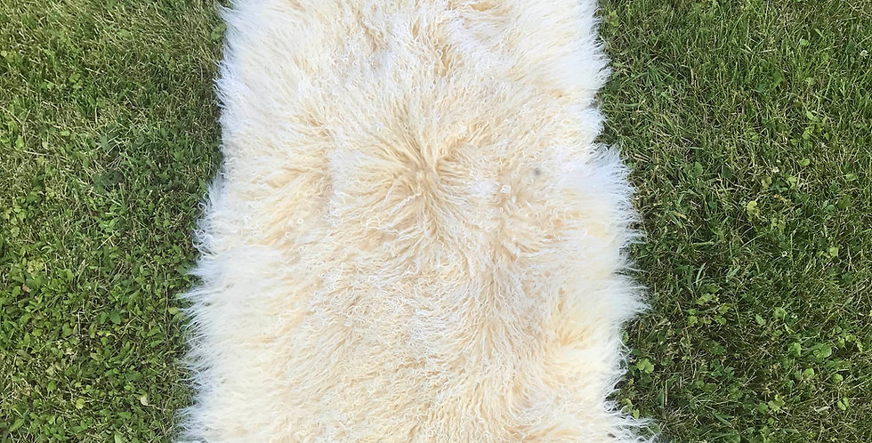 Champagne Tibetan Lamb Throw/Rug