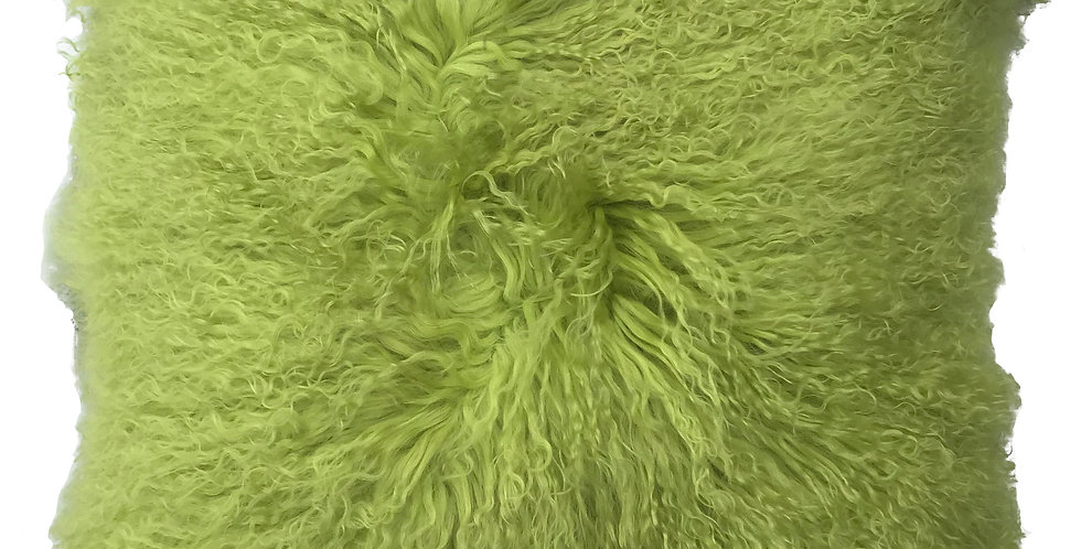 Lime Tibetan Lamb Pillow