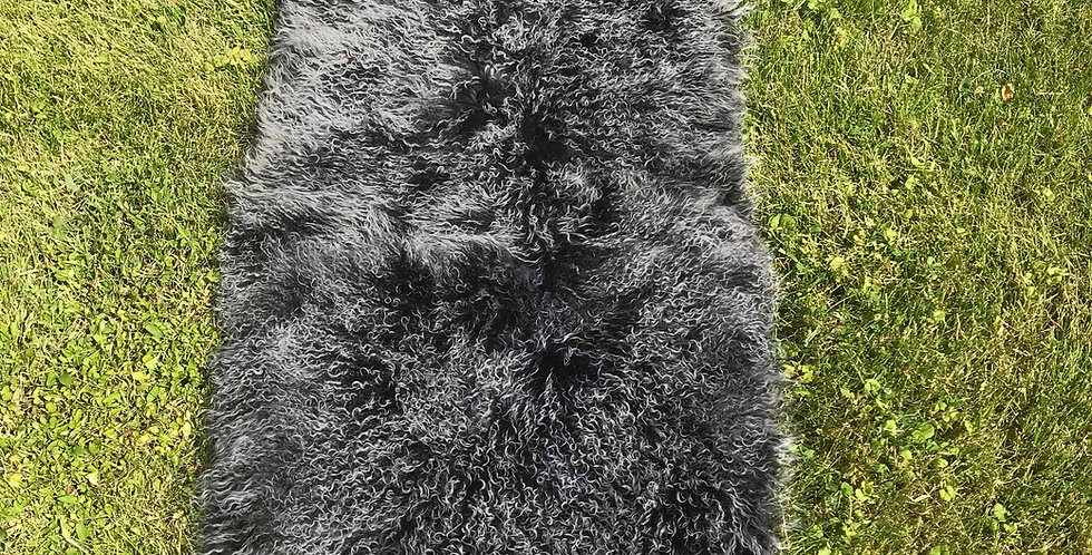 Charcoal Tibetan Lamb Throw/Rug $99